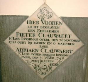 grafsteen te lochristie voor jan clauwaert